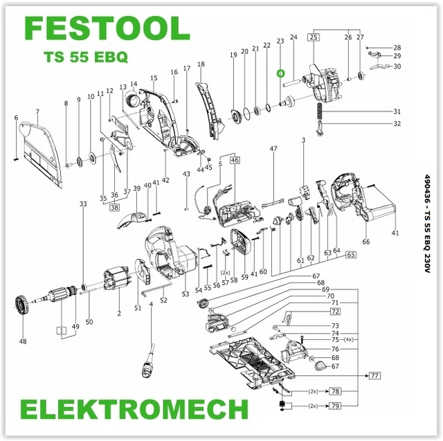 festool ko o z bate zag biarki ts 55 495798 przek adnie i ko a z bate elektromech. Black Bedroom Furniture Sets. Home Design Ideas