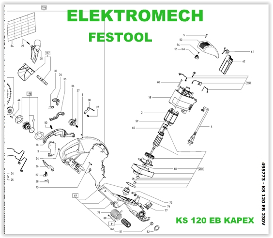 festool wirnik uko nicy kapex ks 120 eb 202924 wirniki festool elektromech. Black Bedroom Furniture Sets. Home Design Ideas